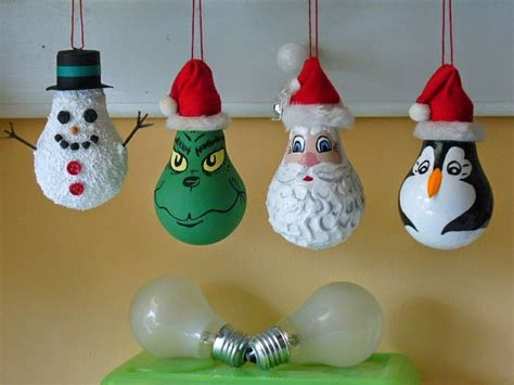 ideas products light bulb christmas ornaments
