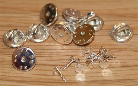 silver coloured metal hat pin backs tacs lapel pins butterfly clasp ebay