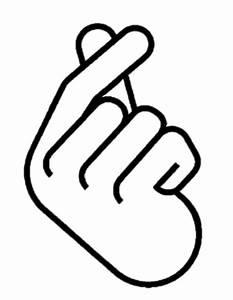 """Korean Finger Heart Ver 2"" by yumi108 Redbubble"
