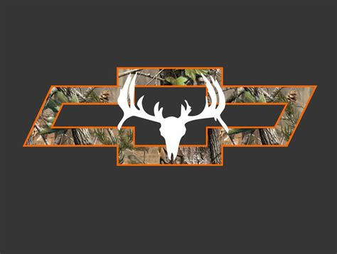 Camo Wallpaper Chevy Symbol by Chevy Truck Camo Bowtie With Deer Vehicle Window Decal