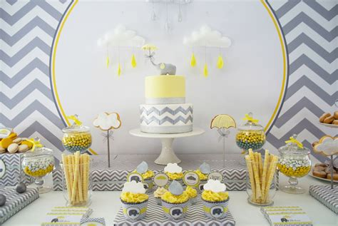 Elephant Cloud Themed Baby Shower