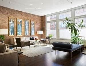 Mur Brique Salon : le salon en brique rouge stylis en 35 exemples vous ~ Zukunftsfamilie.com Idées de Décoration
