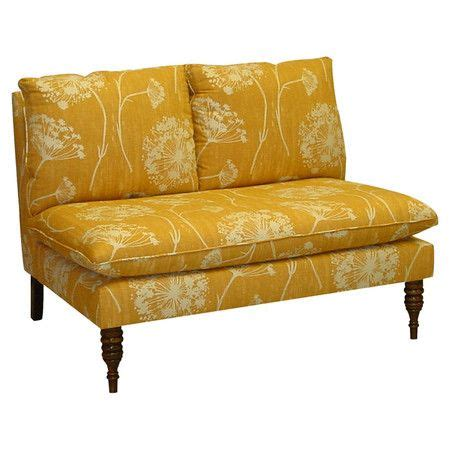 Settee Foam by Pine Wood And Foam Settee With Floral Print Upholstery