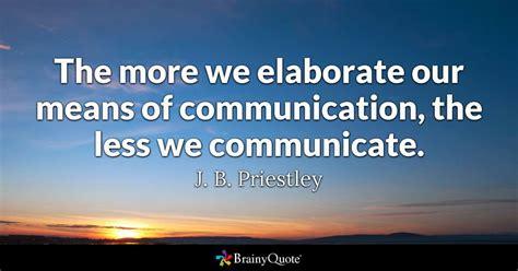 elaborate  means  communication