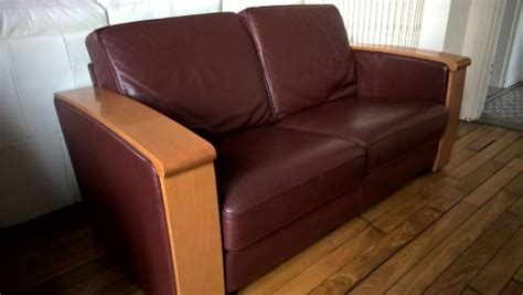 leleu canapé canape cuir et bois jacques leleu meuble d 39 occasion