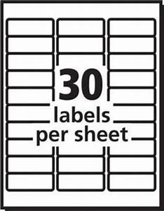 avery white laser address labels 1 x 2 58 box of 3000 by With officemax label template