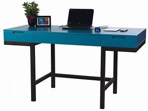 Bureau 140 Cm : bureau 2 tiroirs 140 cm blue vente de bureau conforama ~ Teatrodelosmanantiales.com Idées de Décoration