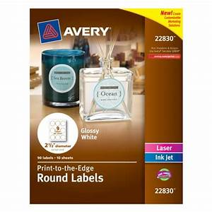avery print to the edge round labels glossy white With avery labels circle white
