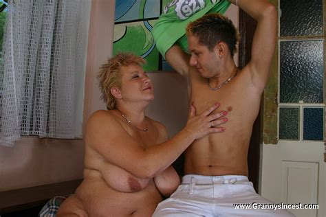Shy boy can't say no to his persistent sex-frenzied grandma