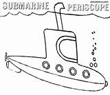 Submarine Coloring Pages Periscope Colorings sketch template