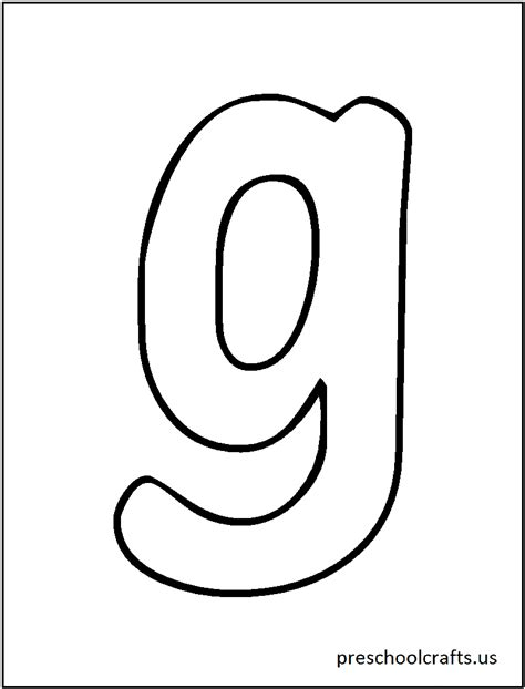 Coloring Letter G by Free Letter G Printable Coloring Pages For Kindergarten