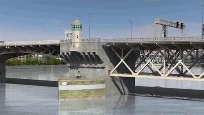Bridge Crumbling Quake Animation Kptv Cascadia Burnside