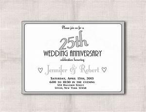 free 25th wedding anniversary invitations free printable With 25th wedding anniversary invitations online free