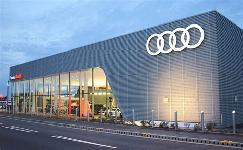 audi dealership a gym spa and first class lounge poole launches state of