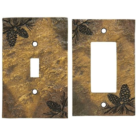 rustic light switch covers rustic pine cone switch plates