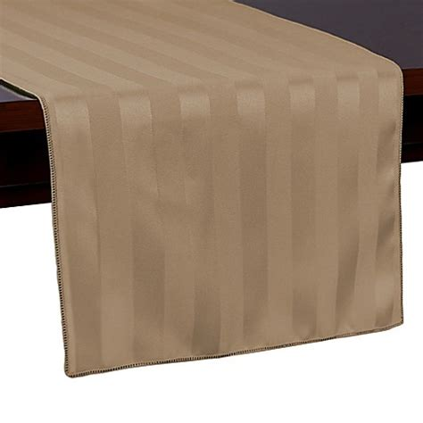 72 inch table runner buy poly stripe 72 inch table runner in beige from bed