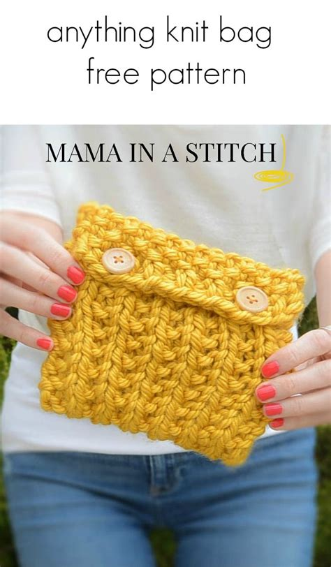 knit pouch easy knitting easy knitting