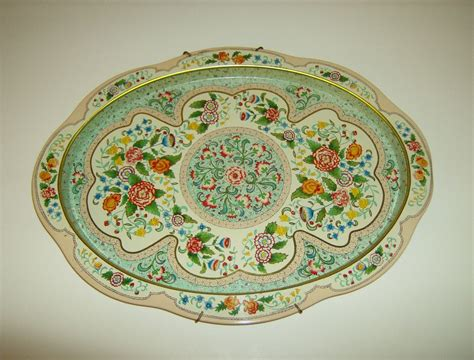 Daher Decorated Ware Tray by Daher Decorated Ware Oval Tray From