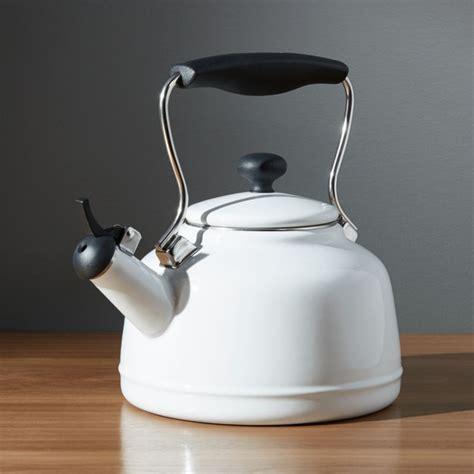 Kitchen Living Tea Kettle by Chantal Vintage White Steel Enamel Tea Kettle Reviews
