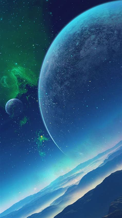 Blue green space nebula wallpaper 1920px width, 1080px height, 1220 kb, for your pc desktop background and mobile phone (ipad, iphone, adroid). TAP AND GET THE FREE APP! Art Creative Space Sky Planets Galaxy Stars Blue Green HD iPhone 6 ...