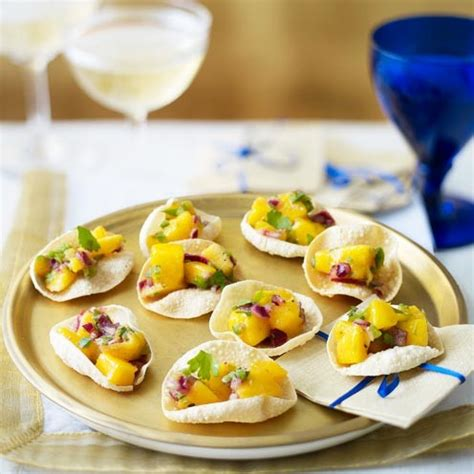 healthy canapes dinner poppadom scoops housekeeping