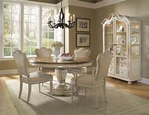 Provenance, French, Country, Whitewash, Round, Oval, Table, U0026, Chairs, 5pc, Dining, Room, Set