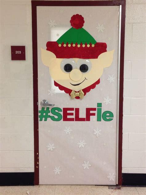 elf christmas door decorating contest bulletin boards