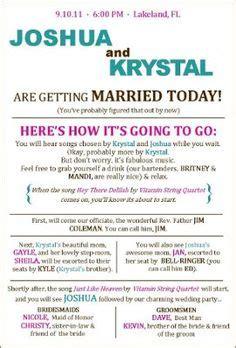 wedding programs exles on wedding programs sle front