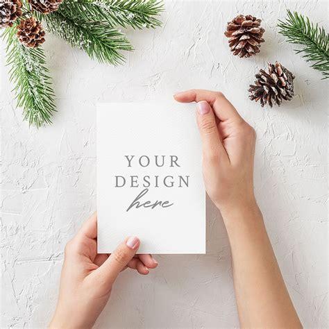 christmas greeting card mockup  images