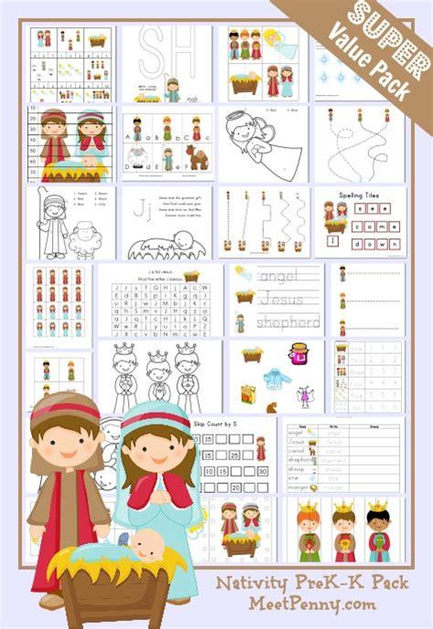 nativity prek  printable pack meet penny