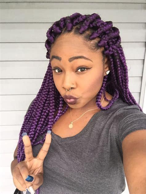Best 25 Purple Box Braids Ideas On Pinterest Purple