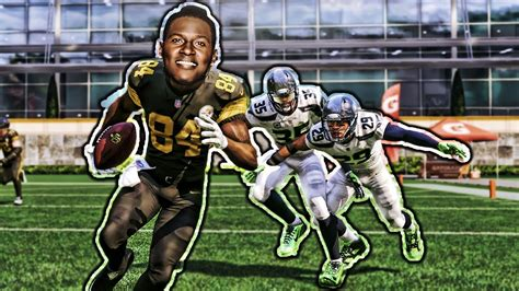 CAN ANTONIO BROWN CATCH A 99 YARD SCREEN PASS TD? MADDEN ...