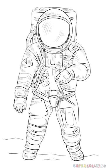 draw  astronaut step  step drawing tutorials