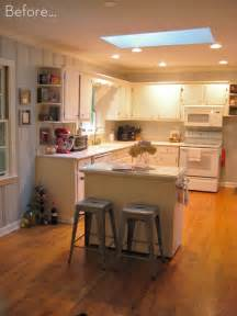 Small Island For Kitchen Before After A Diy Kitchen Island Makeover Curbly Diy Design Decor