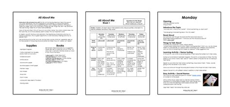 homeschool preschool the preschool program busy 120 | all about me pages