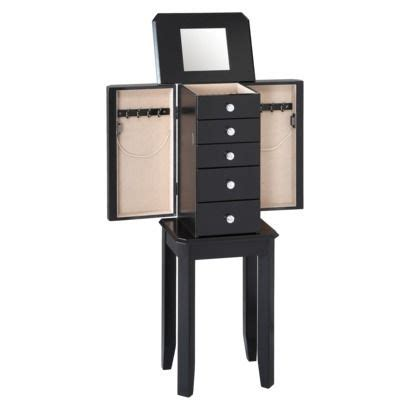threshold avington jewelry armoire black for the home