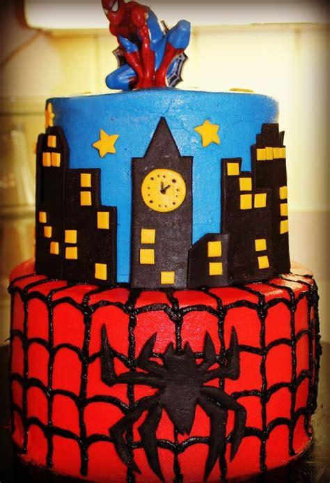 tier spiderman cake cool birthday cakes novelty