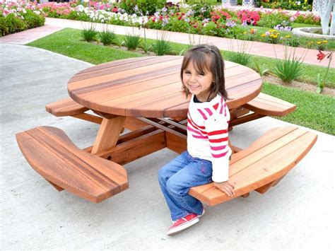 Picnic Table Bench Kit by Kid Size Wood Picnic Table Kit Forever Redwood