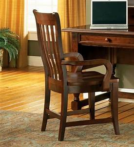 Bella, Slat, Back, Solid, Wood, Cottage, Arm, Chair, In, Medium, Brown, Cherry