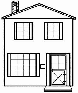 free printable house coloring pages for kids With printable house template for kids