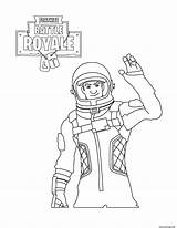 Fortnite Coloring Battle Royale Astronaut Pages Characters sketch template
