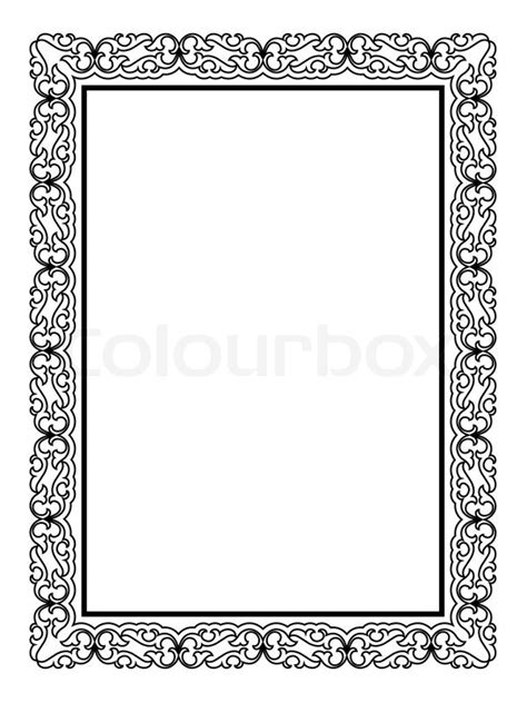 simple black ornamental decorative frame stock vector