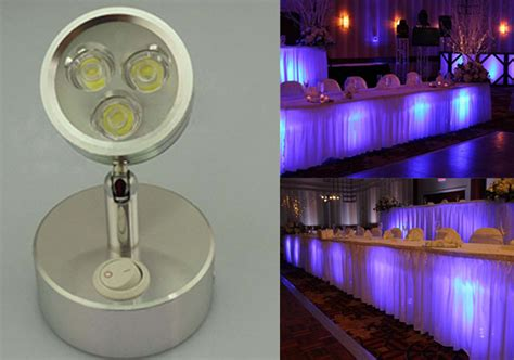 power and light events cordless led undertable l for wedding events