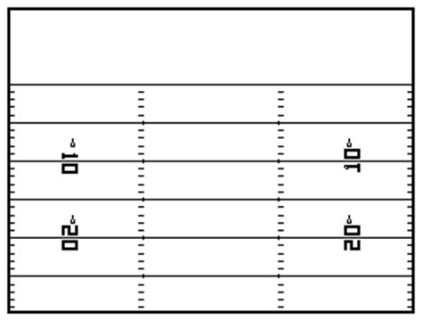 Blank Football Field Template by Blank Football Play Sheets White Gold