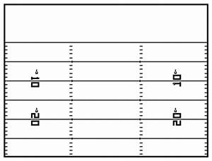 blank football play sheets white gold With blank football field template