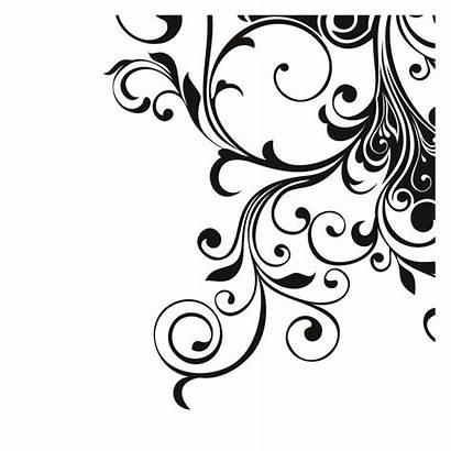 Corner Clipart Designs Wall Swirl Floral Swirls