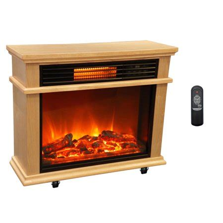 electric fireplace heater walmart lifesmart large deluxe mantle portable electric infrared