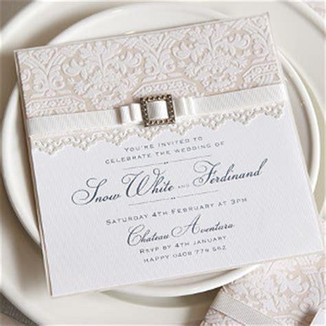 Elegant White Lace Invitations AllFreeDIYWeddings com