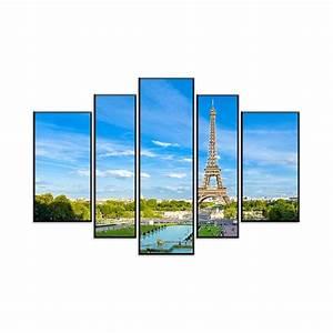 Tableau En 5 Parties : artistiqua tableau en 5 parties sur bois mdf 120 80 cm ~ Dailycaller-alerts.com Idées de Décoration