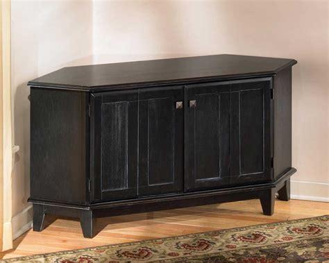 wooden corner tv cabinet black stained pine wood corner cabinet tv stand with door